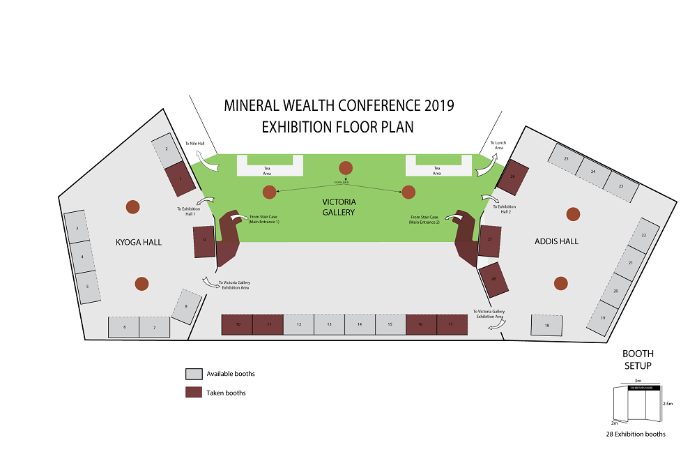 Mineral Wealth Conference 2019 Exhibition Layout